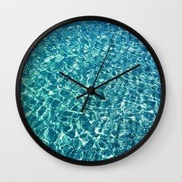 Clear water blue Wall Clock