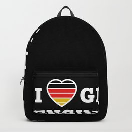 I love german engineering Car Lover Gift Backpack