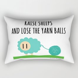 Raise sheeps and lose the yarn balls Rectangular Pillow