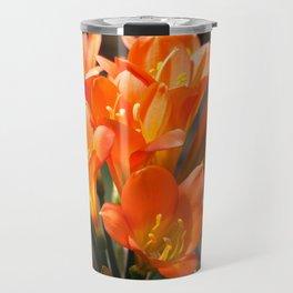 Bright Orange Clivia Travel Mug