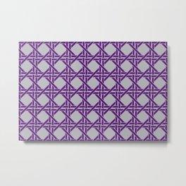 Rectangles pattern design violet - grey Metal Print