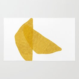 Gold Abstract XV Bowls Rug