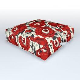 Halloween Roses Eyeballs Spiders Pattern Outdoor Floor Cushion