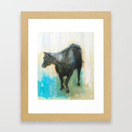 Swinging Bull Framed Art Print