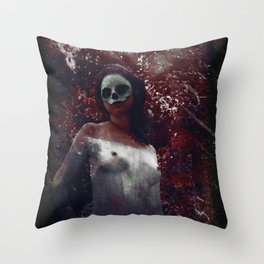 Deaths Maiden Throw Pillow