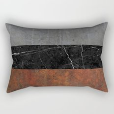 Concrete, Marble and Rusted Iron Abstract Rectangular Pillow