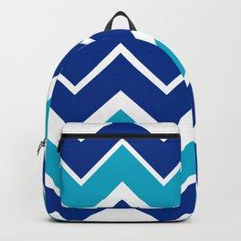 Big Chevron:  Blue + Turquoise Backpack