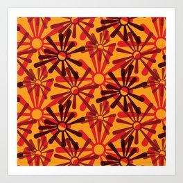 Geometric Seamless Pattern - Bugaboo 004#002 Art Print