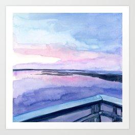 Chincoteague Sunset 1 Art Print