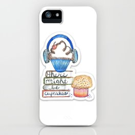 Cupcake Logo with Shadow iPhone Case