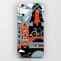 amsterdam iPhone & iPod Skins featuring Amsterdam by koivo