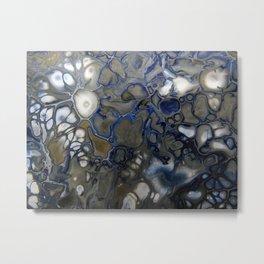 Blue Grey Matter Metal Print