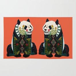panda orange Rug