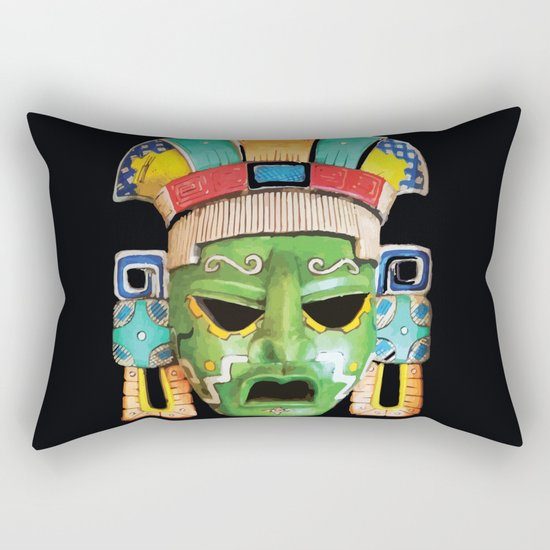 Masks of Mexico Rectangular Pillow