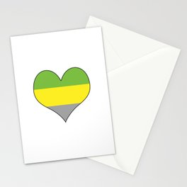 Lithromantic Heart Stationery Cards