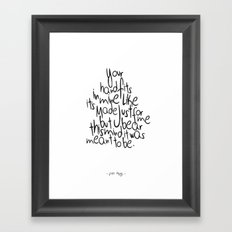 Little Things - One Direction Framed Art Print