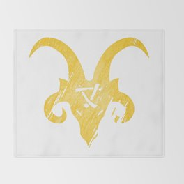 e79a6742f1c Yellow Horned Skaven Throw Blanket