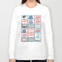 stickers Long Sleeve T-shirts featuring STREET STICKERS by John Jr Badd Habits