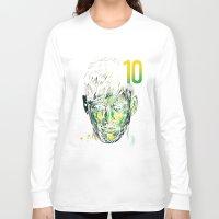 neymar Long Sleeve T-shirts featuring NEYMAR JR by dan elijah g. fajardo