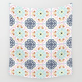 Pastel Moroccan Pattern Wall Tapestry