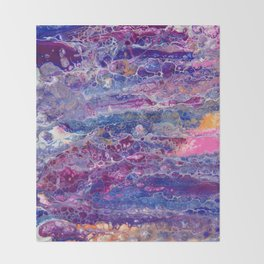 Psycho - Stream of Consciousness in Lively Color Flow by annmariescreations Throw Blanket