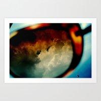 clouds in vogue  Art Print