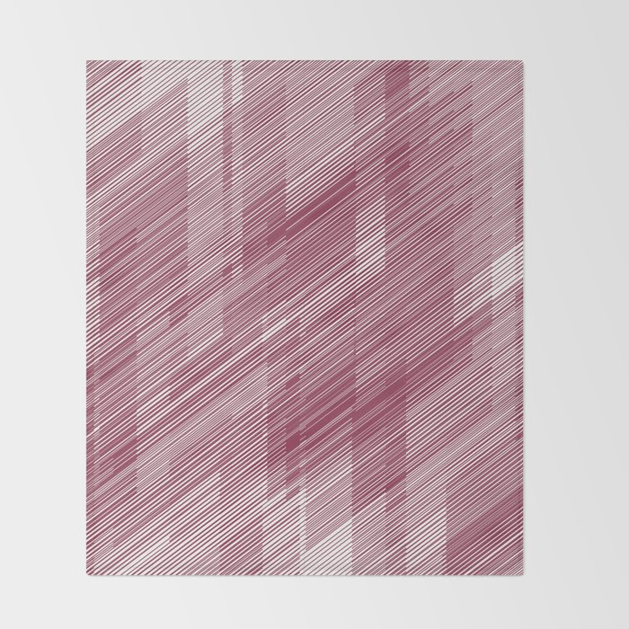 The Red Hash - Geometric Pattern Throw Blanket