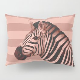 [Animals & Stripes] Peach zebra Pillow Sham