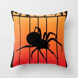 spider -Shadowplay at Sundawn Throw Pillow