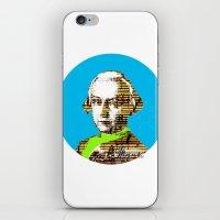 mozart iPhone & iPod Skins featuring Mozart Kugel Blue by Marko Köppe