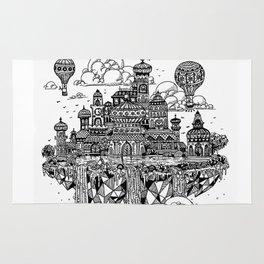 Floating city Rug