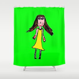 ELiSAVET self-portrait Shower Curtain