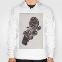 violin Hoodies featuring violin by Buffy Ino Kua