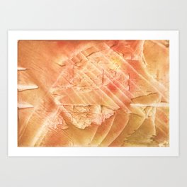 Sandy brown vague watercolor Art Print
