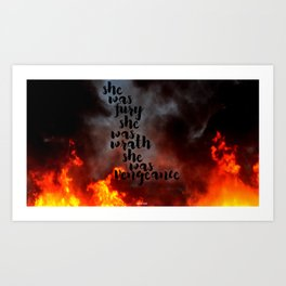 Fury, Wrath, Vengeance Art Print