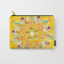 Yellow June Mandala Carry-All Pouch