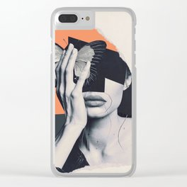 collage art / butterfly Clear iPhone Case