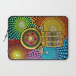 Hamsa Hand, hand of fatima, mandala, yoga art, mandala art, meditation art Laptop Sleeve