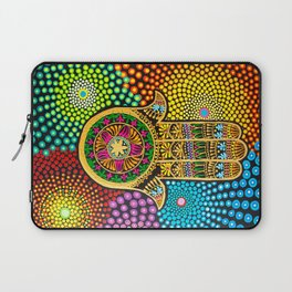 Hamsa Hand, hand of fatima, mandala, yoga art, mandala art, meditation art Laptop Sleeve
