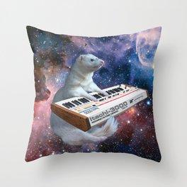 Space Ferret Throw Pillow