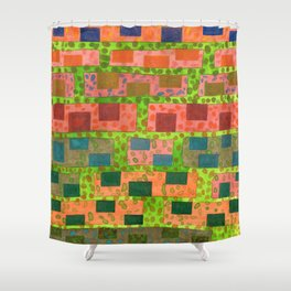 Added Color to a Colorful Wall Shower Curtain