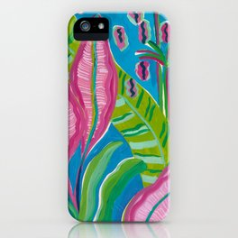 Pink Leaf iPhone Case