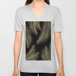 Palm Leaves - Gold Cali Vibes #4 #tropical #decor #art #society6 Unisex V-Neck