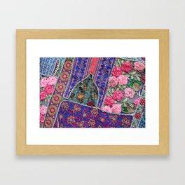 India Patchwork graphic violet Framed Art Print