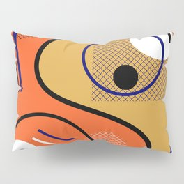 Opposing Sides - Abstract, orange and mustard, geometric, contrasting design Pillow Sham