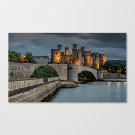 Conwy Castle by Lamplight Canvas Print