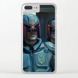 Currupt Judges from Judge Dredd Clear iPhone Case