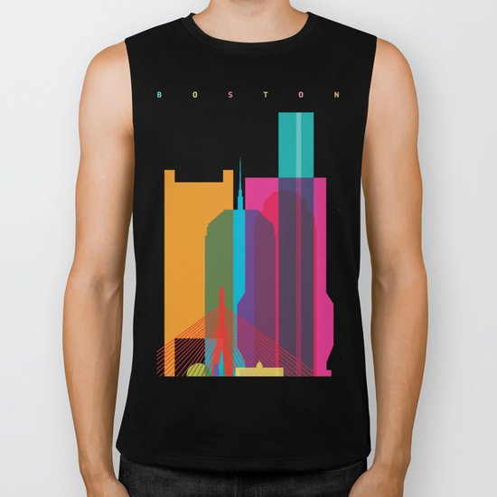 Shapes of Boston. Accurate to scale Biker Tank