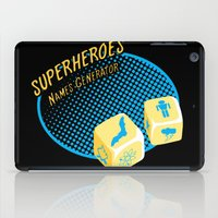 super heroes iPad Cases featuring Super-Heroes-Name-Generator by sergio37