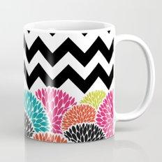 Tropical Flowers Chevron Mug